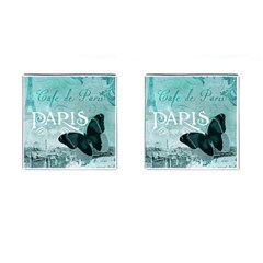 Paris Butterfly Cufflinks (square) by zenandchic