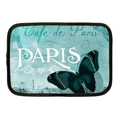 Paris Butterfly Netbook Sleeve (medium)