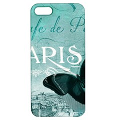 Paris Butterfly Apple Iphone 5 Hardshell Case With Stand by zenandchic