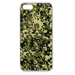 Camouflage Apple Seamless Iphone 5 Case (clear) by chivieridesigns