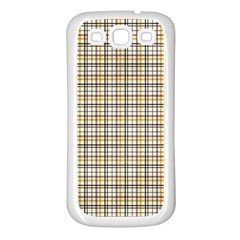 Plaid 4 Samsung Galaxy S3 Back Case (white) by chivieridesigns