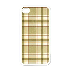 Plaid 9 Apple Iphone 4 Case (white) by chivieridesigns
