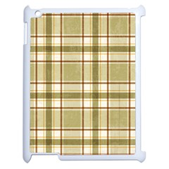 Plaid 9 Apple Ipad 2 Case (white) by chivieridesigns
