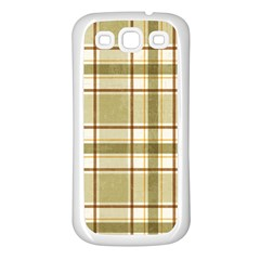 Plaid 9 Samsung Galaxy S3 Back Case (white) by chivieridesigns