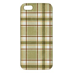Plaid 9 Iphone 5s Premium Hardshell Case by chivieridesigns