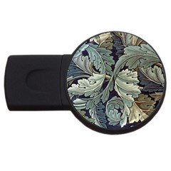 William Morris Usb Flash Drive Round (2 Gb) by chivieridesigns