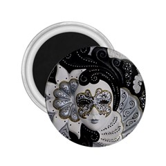 Venetian Mask 2 25  Button Magnet by StuffOrSomething