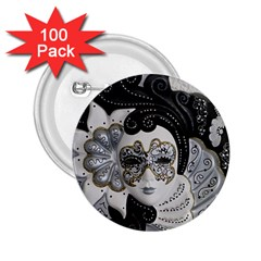 Venetian Mask 2 25  Button (100 Pack) by StuffOrSomething