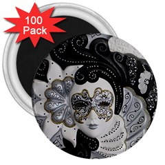 Venetian Mask 3  Button Magnet (100 Pack) by StuffOrSomething