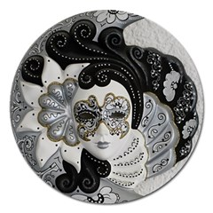 Venetian Mask Magnet 5  (round) by StuffOrSomething