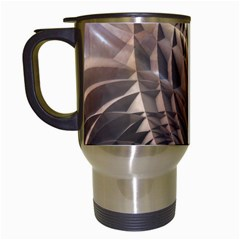 Copper Metallic Travel Mug (white) by CrypticFragmentsDesign