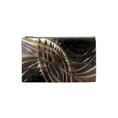 Copper Metallic Cosmetic Bag (small)