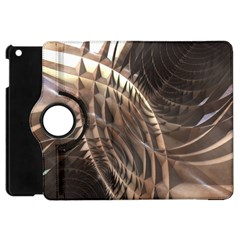 Copper Metallic Apple Ipad Mini Flip 360 Case by CrypticFragmentsDesign