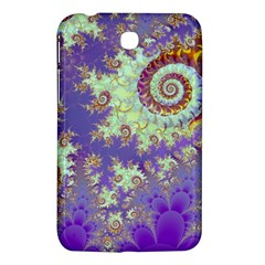 Sea Shell Spiral, Abstract Violet Cyan Stars Samsung Galaxy Tab 3 (7 ) P3200 Hardshell Case  by DianeClancy