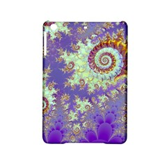 Sea Shell Spiral, Abstract Violet Cyan Stars Apple Ipad Mini 2 Hardshell Case by DianeClancy