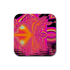 Magenta Boardwalk Carnival, Abstract Ocean Shimmer Drink Coasters 4 Pack (square) by DianeClancy