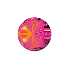Magenta Boardwalk Carnival, Abstract Ocean Shimmer Golf Ball Marker 10 Pack by DianeClancy