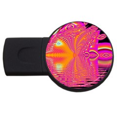 Magenta Boardwalk Carnival, Abstract Ocean Shimmer 2gb Usb Flash Drive (round) by DianeClancy