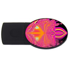 Magenta Boardwalk Carnival, Abstract Ocean Shimmer 4gb Usb Flash Drive (oval) by DianeClancy