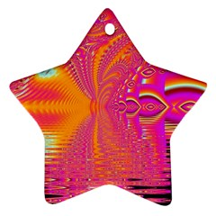 Magenta Boardwalk Carnival, Abstract Ocean Shimmer Star Ornament (two Sides) by DianeClancy