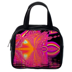 Magenta Boardwalk Carnival, Abstract Ocean Shimmer Classic Handbag (one Side) by DianeClancy