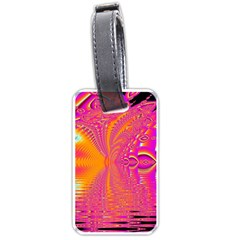 Magenta Boardwalk Carnival, Abstract Ocean Shimmer Luggage Tag (one Side) by DianeClancy