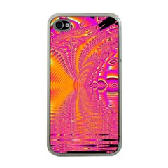 Magenta Boardwalk Carnival, Abstract Ocean Shimmer Apple Iphone 4 Case (clear) by DianeClancy