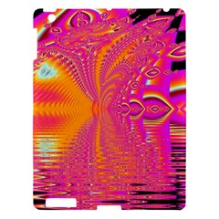 Magenta Boardwalk Carnival, Abstract Ocean Shimmer Apple Ipad 3/4 Hardshell Case by DianeClancy