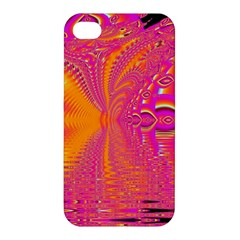 Magenta Boardwalk Carnival, Abstract Ocean Shimmer Apple Iphone 4/4s Premium Hardshell Case by DianeClancy