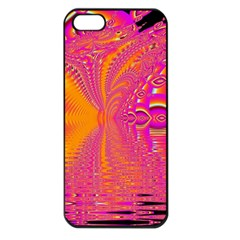 Magenta Boardwalk Carnival, Abstract Ocean Shimmer Apple Iphone 5 Seamless Case (black) by DianeClancy