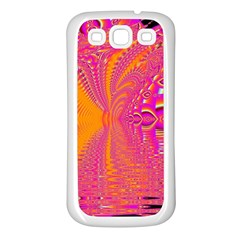Magenta Boardwalk Carnival, Abstract Ocean Shimmer Samsung Galaxy S3 Back Case (white)