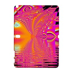 Magenta Boardwalk Carnival, Abstract Ocean Shimmer Samsung Galaxy Note 10 1 (p600) Hardshell Case by DianeClancy