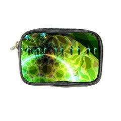 Dawn Of Time, Abstract Lime & Gold Emerge Coin Purse by DianeClancy
