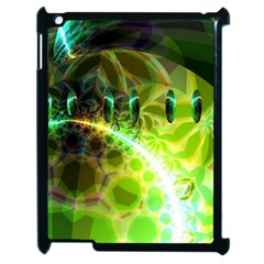 Dawn Of Time, Abstract Lime & Gold Emerge Apple Ipad 2 Case (black) by DianeClancy