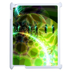 Dawn Of Time, Abstract Lime & Gold Emerge Apple Ipad 2 Case (white) by DianeClancy