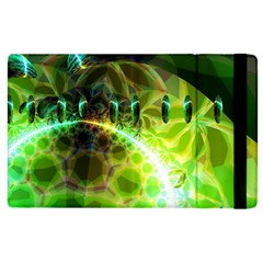 Dawn Of Time, Abstract Lime & Gold Emerge Apple Ipad 2 Flip Case by DianeClancy