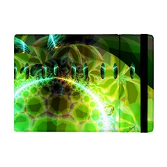 Dawn Of Time, Abstract Lime & Gold Emerge Apple Ipad Mini Flip Case by DianeClancy