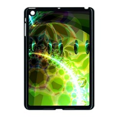 Dawn Of Time, Abstract Lime & Gold Emerge Apple Ipad Mini Case (black) by DianeClancy