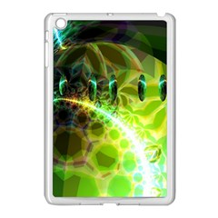Dawn Of Time, Abstract Lime & Gold Emerge Apple Ipad Mini Case (white) by DianeClancy