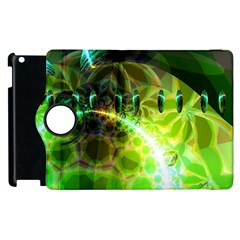 Dawn Of Time, Abstract Lime & Gold Emerge Apple Ipad 2 Flip 360 Case by DianeClancy