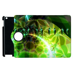 Dawn Of Time, Abstract Lime & Gold Emerge Apple Ipad 3/4 Flip 360 Case by DianeClancy