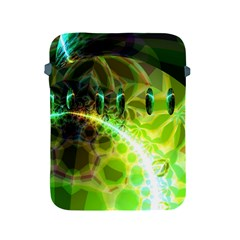Dawn Of Time, Abstract Lime & Gold Emerge Apple Ipad Protective Sleeve by DianeClancy