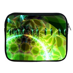 Dawn Of Time, Abstract Lime & Gold Emerge Apple Ipad Zippered Sleeve by DianeClancy