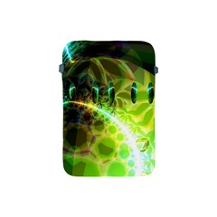 Dawn Of Time, Abstract Lime & Gold Emerge Apple Ipad Mini Protective Sleeve by DianeClancy