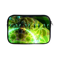 Dawn Of Time, Abstract Lime & Gold Emerge Apple Ipad Mini Zippered Sleeve by DianeClancy