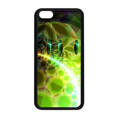 Dawn Of Time, Abstract Lime & Gold Emerge Apple Iphone 5c Seamless Case (black) by DianeClancy