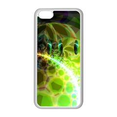 Dawn Of Time, Abstract Lime & Gold Emerge Apple Iphone 5c Seamless Case (white) by DianeClancy
