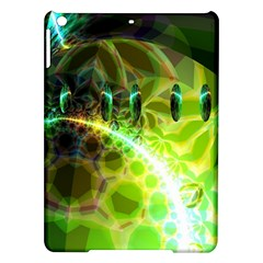 Dawn Of Time, Abstract Lime & Gold Emerge Apple Ipad Air Hardshell Case by DianeClancy