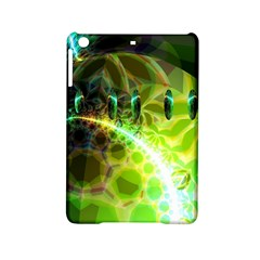 Dawn Of Time, Abstract Lime & Gold Emerge Apple Ipad Mini 2 Hardshell Case by DianeClancy