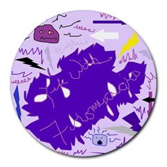 Life With Fibro2 8  Mouse Pad (round) by FunWithFibro